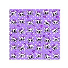 Cute skulls  Small Satin Scarf (Square)