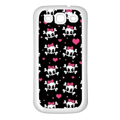 Cute skulls  Samsung Galaxy S3 Back Case (White)