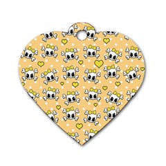 Cute skull Dog Tag Heart (Two Sides)