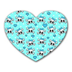 Cute skull Heart Mousepads