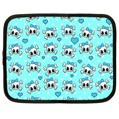 Cute skull Netbook Case (Large)