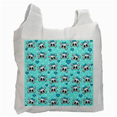 Cute skull Recycle Bag (One Side)