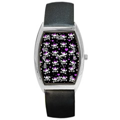 Cute skull Barrel Style Metal Watch