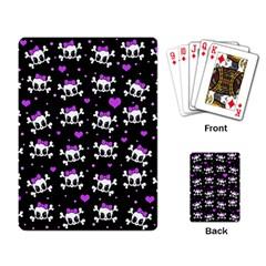 Cute skull Playing Card
