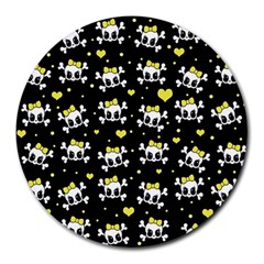 Cute skull Round Mousepads