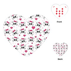 Cute skull Playing Cards (Heart)