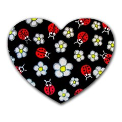 Sixties Flashback Heart Mousepads