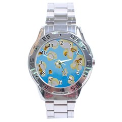 Air Popped Stainless Steel Analogue Watch
