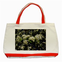 Floral Skies 2 Classic Tote Bag (red)