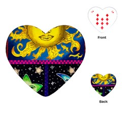 Celestial Skies Playing Cards (Heart)