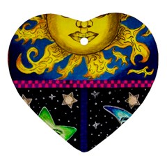 Celestial Skies Heart Ornament (Two Sides)