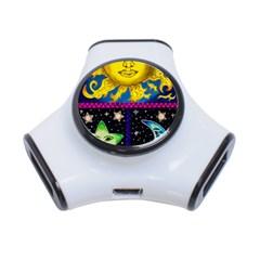 Celestial Skies 3-Port USB Hub