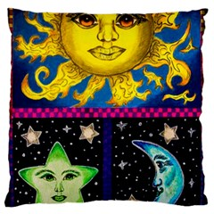 Celestial Skies Large Flano Cushion Case (Two Sides)