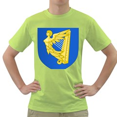 Coat of Arms of Ireland, 17th Century to the Foundation of Irish Free State Green T-Shirt