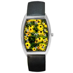 Walking Through Sunshine Barrel Style Metal Watch