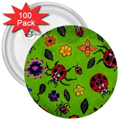 Lucky Ladies 3  Buttons (100 pack)