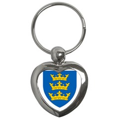 Lordship of Ireland Coat of Arms, 1177-1542 Key Chains (Heart)