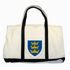 Lordship of Ireland Coat of Arms, 1177-1542 Two Tone Tote Bag