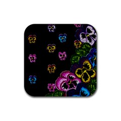 Floral Rhapsody Pt 1 Rubber Coaster (Square)
