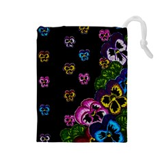 Floral Rhapsody Pt 1 Drawstring Pouches (Large)