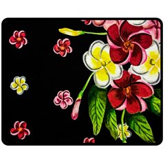 Floral Rhapsody Pt 2 Double Sided Fleece Blanket (Medium)