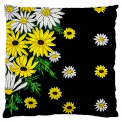 Floral Rhapsody Pt 3 Large Flano Cushion Case (Two Sides)