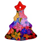 Spring Pastels Ornament (Christmas Tree)  Front