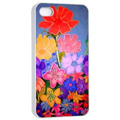 Spring Pastels Apple iPhone 4/4s Seamless Case (White)