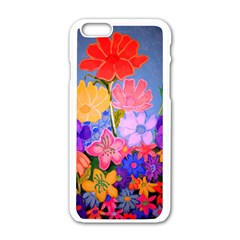 Spring Pastels Apple Iphone 6/6s White Enamel Case