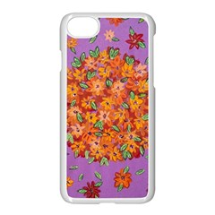 Floral Sphere Apple Iphone 7 Seamless Case (white)