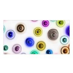 Colorful concentric circles          Satin Shawl