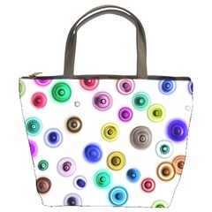 Colorful concentric circles         Bucket Bag