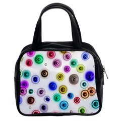 Colorful concentric circles              Classic Handbag (Two Sides)
