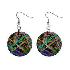 Colorful laser lights             1  Button Earrings