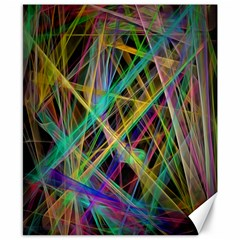 Colorful laser lights             Canvas 8  x 10