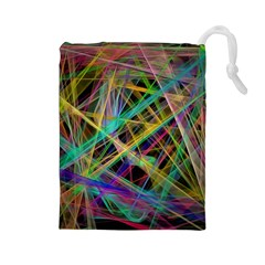 Colorful laser lights             Drawstring Pouch