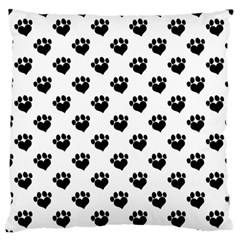 Puppy Love Black Large Flano Cushion Case (Two Sides)