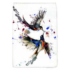 Colorful Love Birds Illustration With Splashes Of Paint Flap Covers (L)