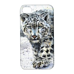 Snow Leopard 1 Apple Iphone 4/4s Hardshell Case With Stand