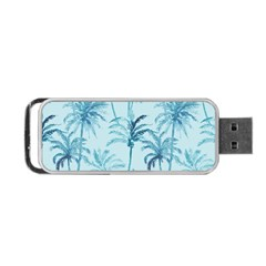 Watercolor Palms Pattern  Portable USB Flash (Two Sides)