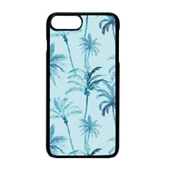 Watercolor Palms Pattern  Apple Iphone 7 Plus Seamless Case (black)
