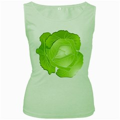 Cabbage Leaf Vegetable Green Women s Green Tank Top