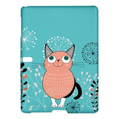 Cat Face Mask Smile Cute Leaf Flower Floral Samsung Galaxy Tab S (10.5 ) Hardshell Case
