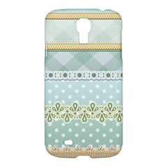 Circle Polka Plaid Triangle Gold Blue Flower Floral Star Samsung Galaxy S4 I9500/I9505 Hardshell Case