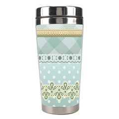 Circle Polka Plaid Triangle Gold Blue Flower Floral Star Stainless Steel Travel Tumblers