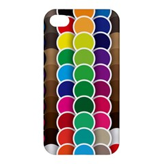 Circle Round Yellow Green Blue Purple Brown Orange Pink Apple iPhone 4/4S Premium Hardshell Case