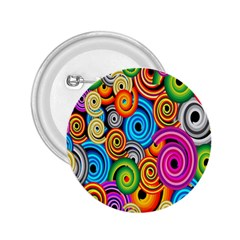 Circle Round Hole Rainbow 2.25  Buttons