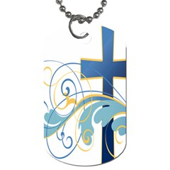 Easter Clip Art Free Religious Dog Tag (two Sides)