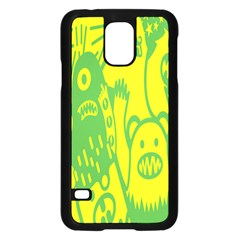 Easter Monster Sinister Happy Green Yellow Magic Rock Samsung Galaxy S5 Case (Black)