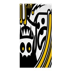 Easter Monster Sinister Happy Magic Rock Mask Face Polka Yellow Shower Curtain 36  x 72  (Stall)